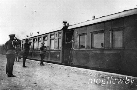 Место первоначальной стоянки царских поездов в Могилеве